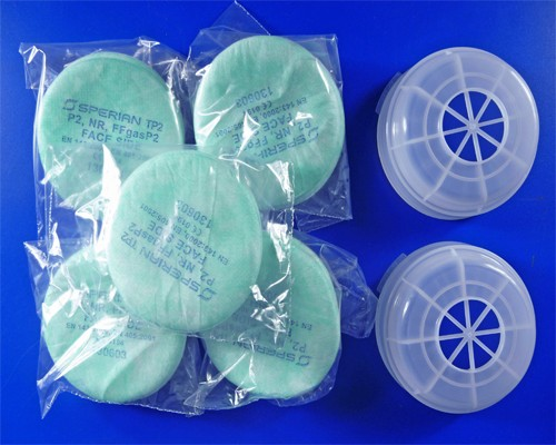 DeVilbiss Pair of Pre-Filter Covers + 10 Filter Pads For MPV-629 Half Mask-0