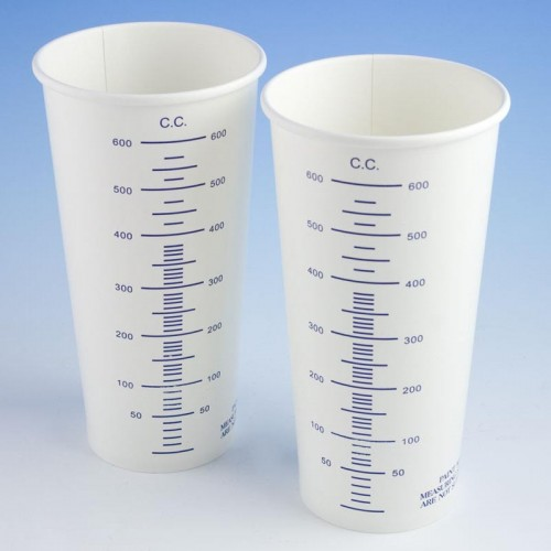 Calibrated 600cc Card Mixing Cups (Pack of 50)-0