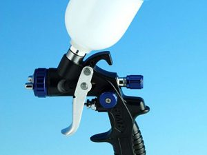 Lightweight Mini HVLP Gravity Spray Gun - 0.8mm Nozzle-0