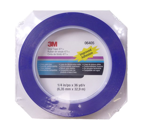 3M Blue Fine Line Masking Tape 6mm x 32.9m Roll-0