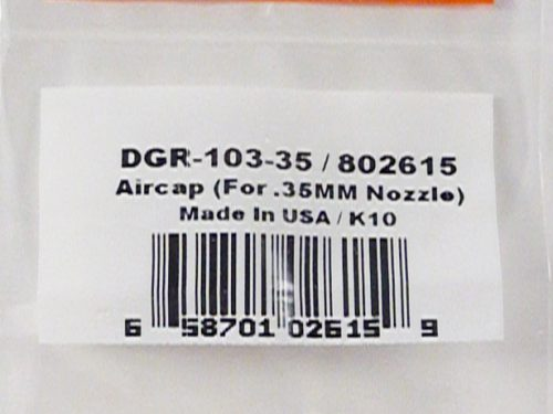 DeVilbiss DAGR Air Cap (0.35mm)-0