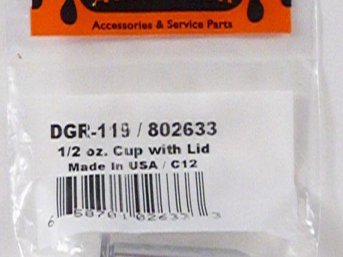 DeVilbiss DAGR 1/2 oz (14cc) Cup and Lid-0