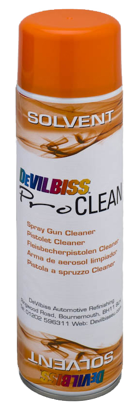 DeVilbiss Pro Clean Solvent Aerosol 500ml (Pack of 12)-0