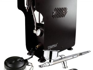 Professional Automotive Airbrushing Kit with DeVilbiss DAGR Airbrush & Sparmax 620X Compressor-0