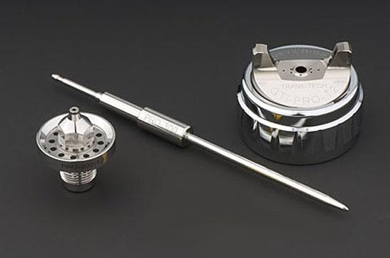 DeVilbiss GTi Pro Lite Gravity Air Cap, Fluid Tip and Needle Kit-0