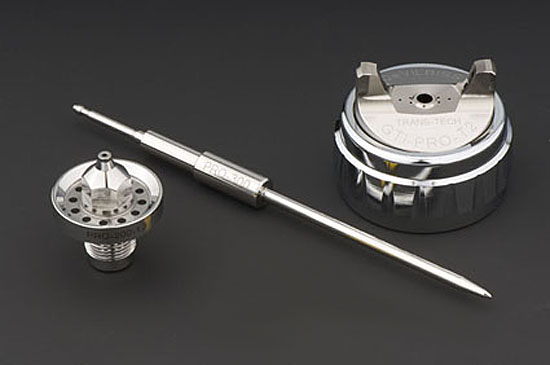 DeVilbiss SRi Pro Lite Gravity Air Cap, Fluid Tip and Needle Kit-0