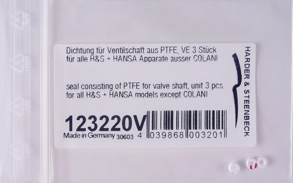 PTFE Seal for Valve Shaft (Pack of Three)-0