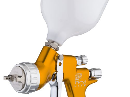 GTi Pro Lite Gravity Feed Spray Gun - Gold Handle