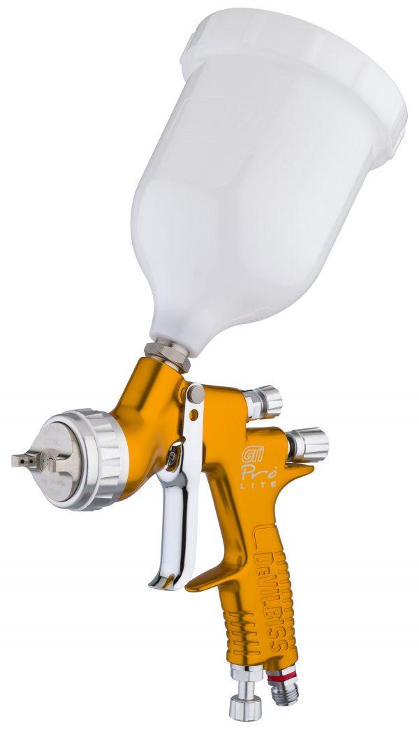 GTi Pro Lite Gravity Feed Spray Gun - Gold Handle