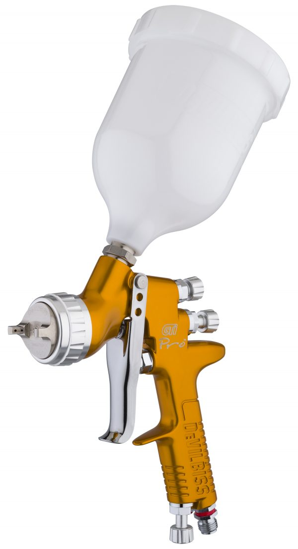 GTi Pro Gravity Feed Spray Gun - Gold Handle
